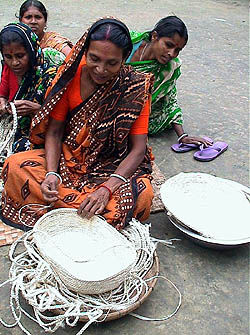 women making products from jute, Bangladesh