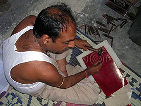 craftsman at work on Paper High products
