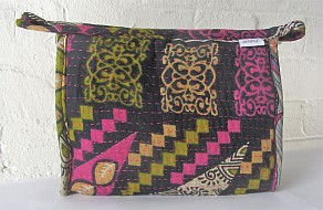 Kantha washbags - large abstract squares