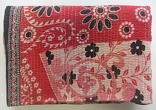 KA Kantha throw red