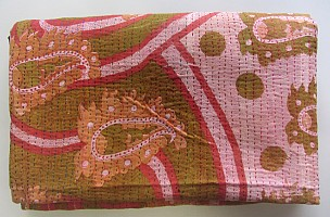 KA Kantha throw paisley